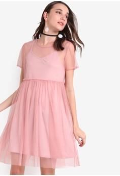 Doll Mesh Tee Dress