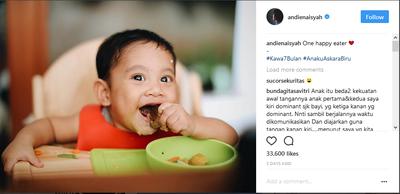 Spoon Feeding di Usia Kawa 7 Bulan