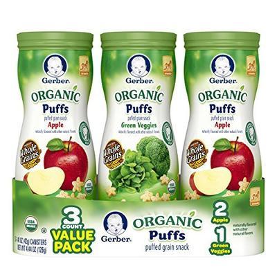 2. Gerber Graduates Organic Puffs Apple