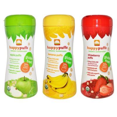 4. Happy Baby Organic Puffs