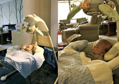 Menggunakan Ayunan Bayi