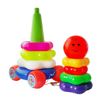 5. Ocean Toy Stacking Ring Donuts - Smile