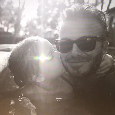 David Beckham dan Harper Beckham