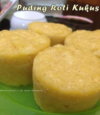 Resep Simple Bread Pudding (Puding Roti Kukus)