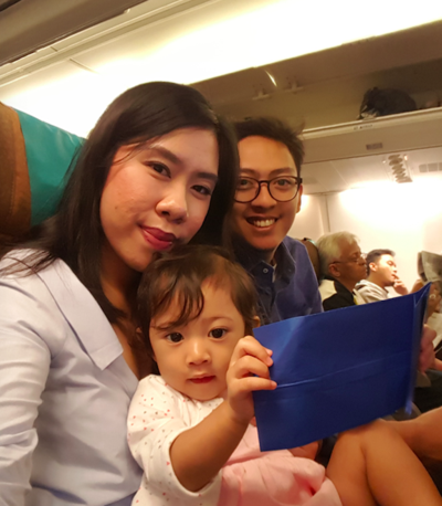 BALI VACATION : ALE's FIRST FLIGHT