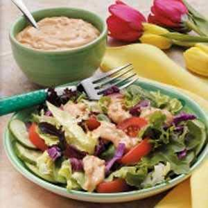 1. Vegetables Salad with Thousand Island Sauce
