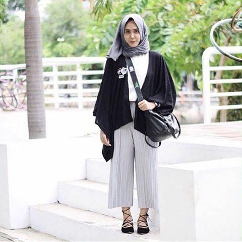 Inspirasi Padu Padan Celana Kulot Untuk Hijabers Life Mommyasia