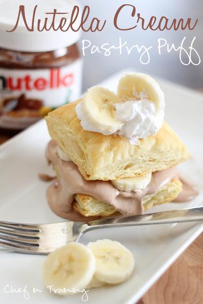 Nutella Cream Pastry Puff