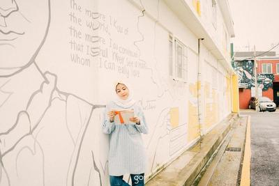 Atasan Hijab Tunik Striped
