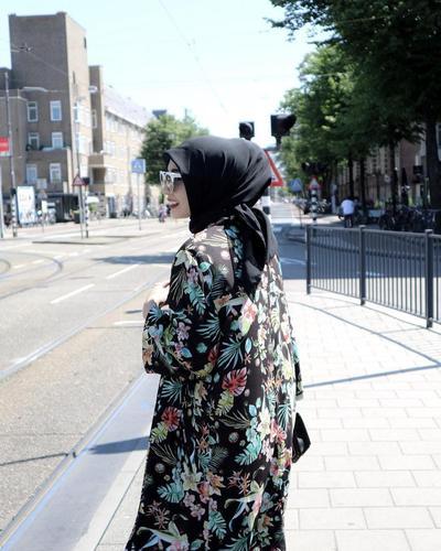 Atasan Hijab Motif Full Print