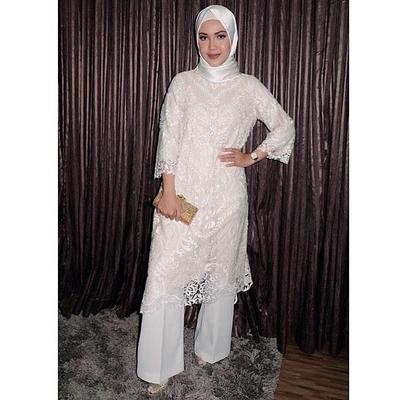 Atasan Hijab Tunik Brokat