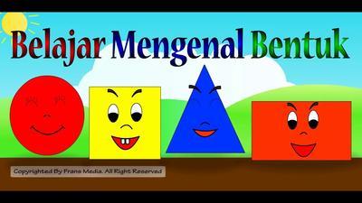 Membedakan Bentuk Geometri (Segitiga, Segi Empat, lingkaran, dll)