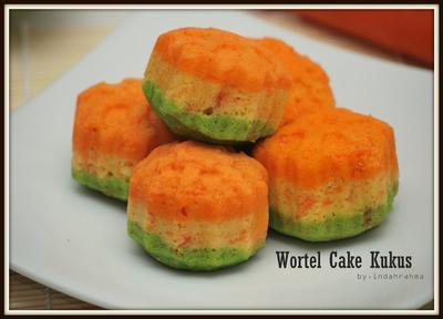 2. Wortel Cake Kukus