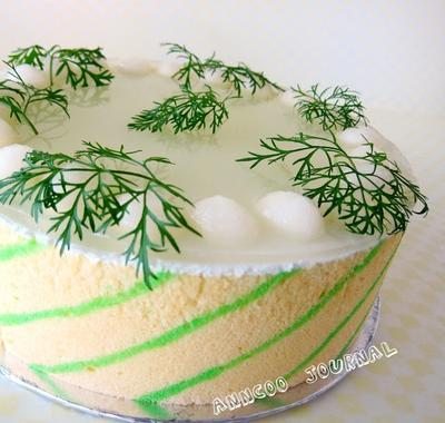 5. Honeydew Mousse Cake
