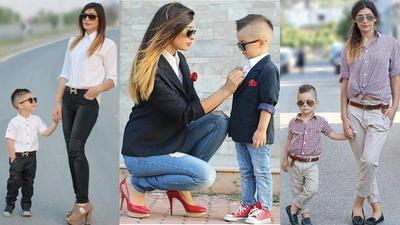 Fashion Kembar Ibu dan Anak Ini Bikin Jalan-Jalan Jadi Lebih Seru