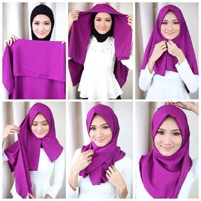Cuma Punya Hijab Segiempat? Bisa Dibuat Seperti Pasmina Lho, Begini Tutorialnya