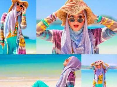 Tetap Stylish Saat Liburan ke Pantai? Ini Inspirasi Outfit Hijab yang Bisa Dikenakan