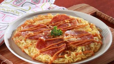 Resep Pizza Mie Telur