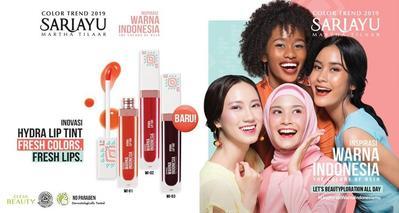 Enggak Cuma Halal, Sariayu Rilis Lip Tint yang Bagus untuk Bibir Hitam