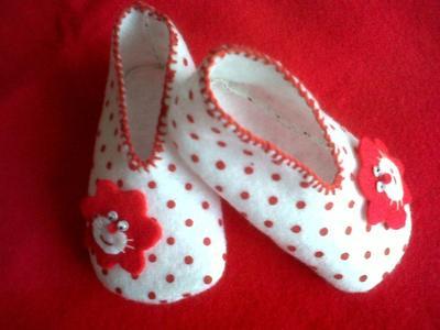 DIY Sepatu Bayi Bahan Kain, Bikin Pola Tanpa Ribet
