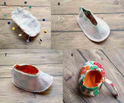 Tutorial Sepatu Bayi Kain Flanel