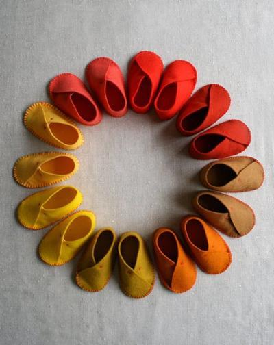 Sepatu Bayi dari Kain Flanel
