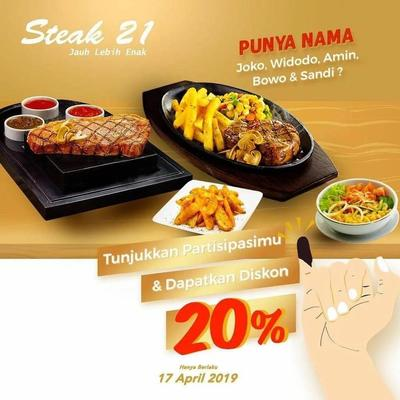 7. Steak 21