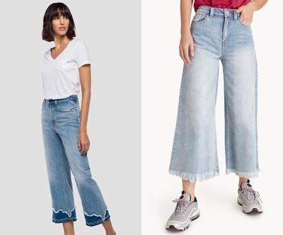 1. Celana Kulot Jeans Rawis