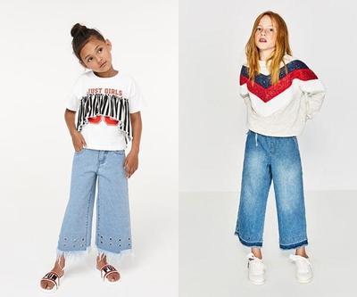 4. Celana Kulot Jeans Anak Perempuan