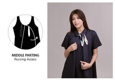 Model Baju Menyusui Middle Parting