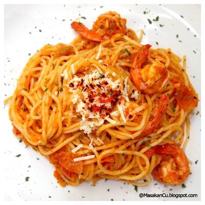 Spaghetti Saus Udang