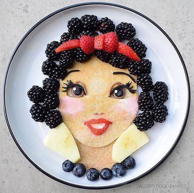 Dari Jasmine Hingga Pikachu, Ibu Ini Ciptakan Makanan Sehat Berkarakter Kartun Untuk Sang Anak