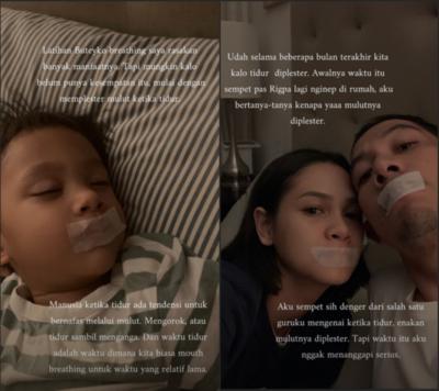 Ajarkan Anak Tidur dengan Mulut Diplester, Aksi Buteyko Breathing Andien Viral dan Tuai Pro Kontra