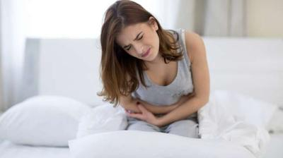 Sakit berat pada panggul disertai keputihan